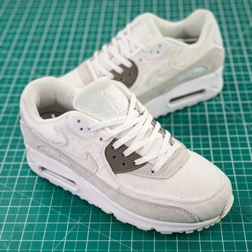 Nike Air Max90 Essential White Sport Running Shoes - Best Online Sale