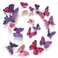 12PCS 3D PVC Butterflies Wall Stickers