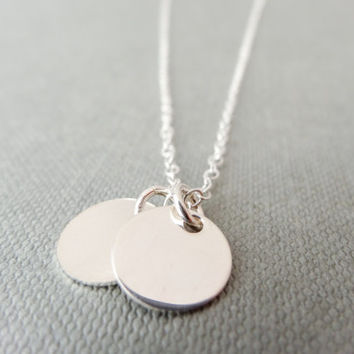 Dainty silver necklace, sterling silver charms, simple necklace, delicate silver necklace, gift for her, anniversary gift, birthday gift