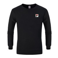 FILA trend casual breathable running sports round neck sweater black