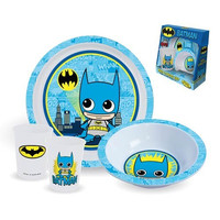 BATMAN PLATE BOWL AND CUP 3-PIECE KIDS
