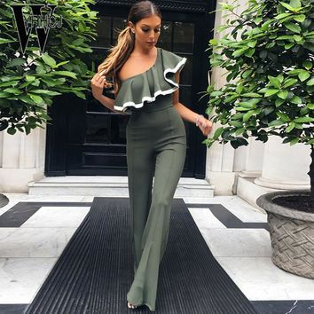 Off Shoulder Jumpsuit With Ruffles