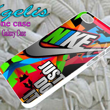 Nike Colorfull Just Do It  for iPhone 4/4S/5/5S/5C Case, Samsung Galaxy S3/S4/S5 Case, iPod Touch 4/5 Case