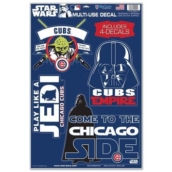 CHICAGO CUBS STAR WARS YODA & VADER LAPTOP MULTI USE REUSABLE DECALS WINCRAFT