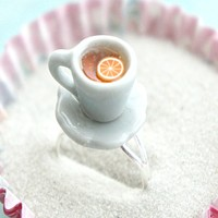 Lemon Tea Cup Ring