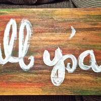 Happy Fall Y'all Sign on Pallet Board!