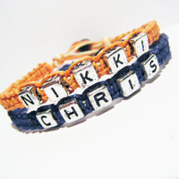 Custom Couples Bracelets with names MADE TO ORDER-1 Week production time