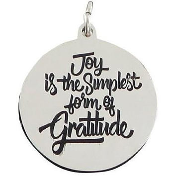 Stainless Steel Charm Joy is the Simplest Form of Gratitude