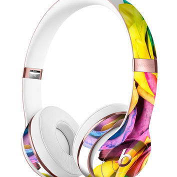 Rainbow Dyed Roses Full-Body Skin Kit for the Beats by Dre Solo 3 Wireless Headphones