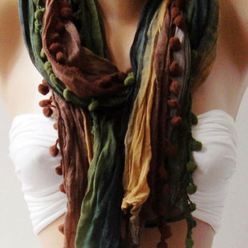 Colorful - Cotton Shawl  - Scarf  Headband  Bandana Pareo