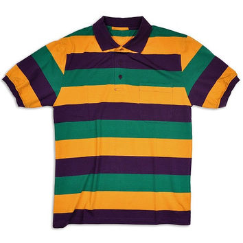 Mardi Gras Kids Short Sleeve Polo Shirt