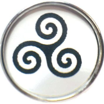 DCCK1IN celtic triskele symbol of life balance 18mm 20mm fashion snap jewelry snap charm new item
