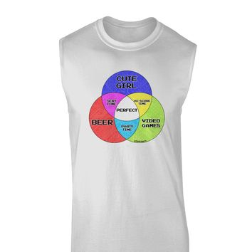 Beer Girl and Games Diagram Muscle Shirt