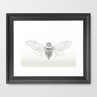 cicada Framed Art Print by Merry