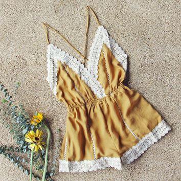Whiskey & Rye Romper in Mustard