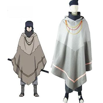 Naruto Movie The Last Uchiha Sasuke Cosplay Costume Hooded Cloak