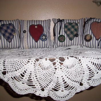 Handmade Scented Primitive Folk Art Shelf Pillows or Bowl Fillers