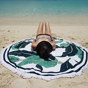 Creative Palm Tree Beach Towel Printed Scarves Wrap Pareo