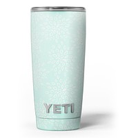 The Mint Flower Sprout Yeti Rambler Skin Kit