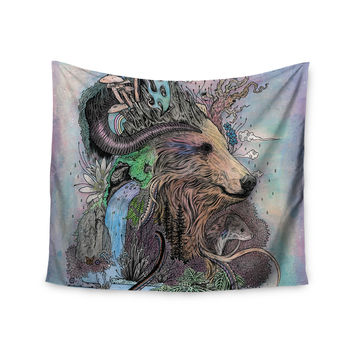 "Mat Miller ""Forest Warden"" Bear Nature Wall Tapestry"