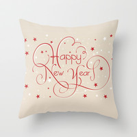 Happy New Year Throw Pillow Promoters