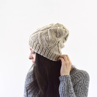 Knit Slouchy Men Woman Hat Beanie Toque | The Grace