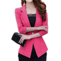 'The Rosalia' Pink Lace-Detailed  Blazer