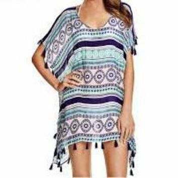 Purple Ball Chiffon Beach Dress Cover Up