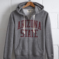 Tailgate Men's Arizona State Zip Hoodie, Salt And Pepper