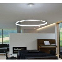 Pendant Light Modern Design Living LED Ring Ceiling Fixture Flush Mount, Chandelier