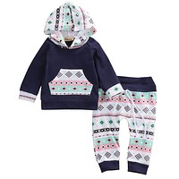 Newborn Infant Baby Boys Girls Clothes Hoodie Top+Pants Leggings Outfits Set
