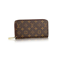 Authentic Louis Vuitton Monogram Canvas Zippy Wallet Article: M60017