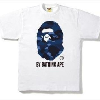 BAPE Unisex Fashion Casual Pattern Print T-shirt.-6