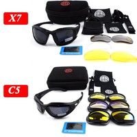 Hot ! X7 C5 Military Tactical Sunglasses Polarized Outdoor Sport Goggles Hunting Shooting Eyewear Men Hiking Camping Glasses
