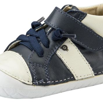 Old Soles Earth Pave Boy's Sneaker Tennis Shoes, Navy/White
