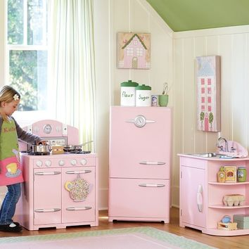 Petal Pink Retro Kitchen Collection | Pottery Barn Kids