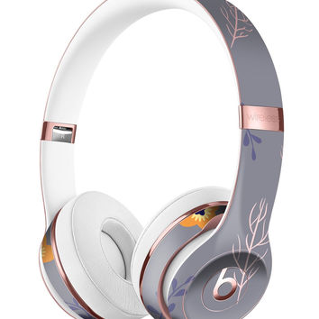 Scattered Easter Basket Over Gray Full-Body Skin Kit for the Beats by Dre Solo 3 Wireless Headphones