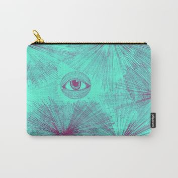 Uncommon Knowledge - Teal Carry-All Pouch by Ducky B