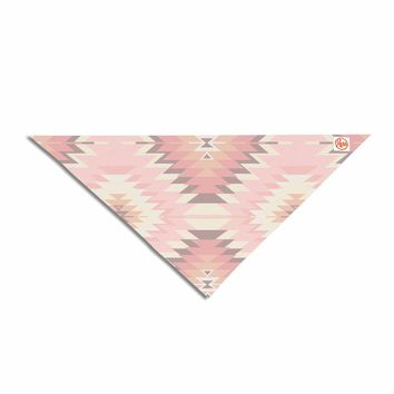 "Amanda Lane ""Soft Southwestern"" Pink Coral Digital Pet Bandana"