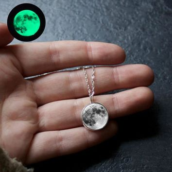 Luna Love Glow In The Dark Necklace  - 11 styles includes Blood Yin Yang & Pride Moons