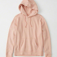 Womens Solid Hoodie | Womens Tops | Abercrombie.com