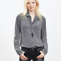 Banana Republic Womens Silk Utility Shirt