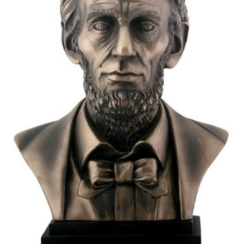 Lincoln US President Portrait Bust Statue 8H