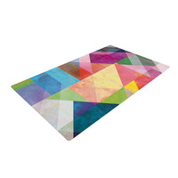 "Mareike Boehmer ""Color Blocking"" Rainbow Abstract Woven Area Rug"
