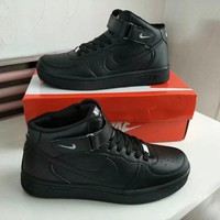 Nike Air Force 1 Unisex Sport Casual High Help Plate Shoes Couple Fashion Simple Sneakers