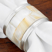 Kemp & Beatley Mother of Pearl Napkin Ring
