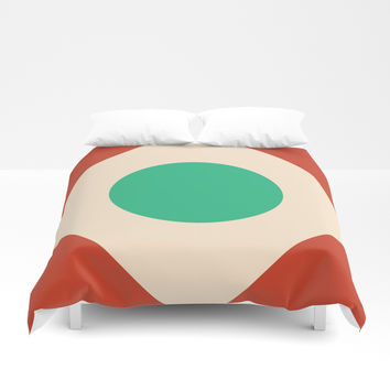 Red Peak Duvet Cover by spaceandlines