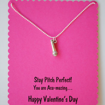 Pitch Perfect Valentines Microphone Necklace