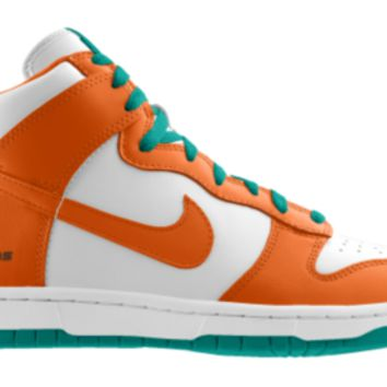 Nike Dunk High NFL Miami Dolphins iD Custom Men's Shoes - Orange