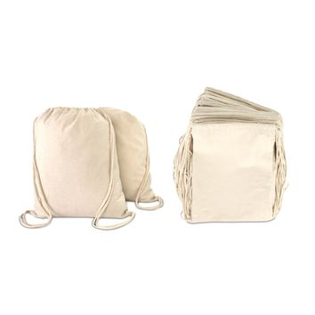 DALIX Canvas Drawstring Bag String Backpack Mens Womens Bulk 12 Pack